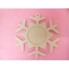 4mm MDF Picture frame snowflake 200mm